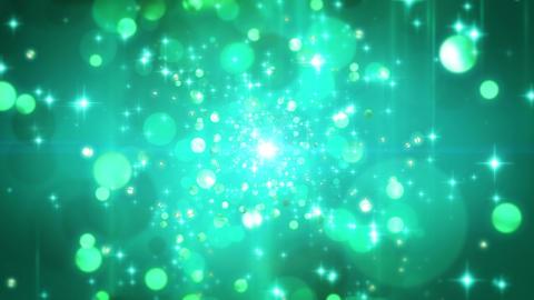 4K CGBG SeamlessLoop Twinkle Emerald Particle Animation