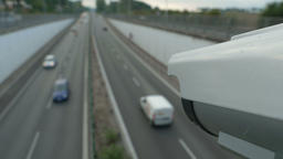 Speed awareness camera on highway Live Action