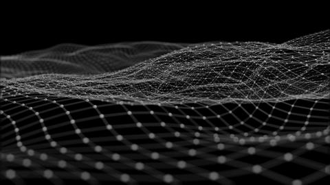 Waves on a Grid of Particles Fotografía