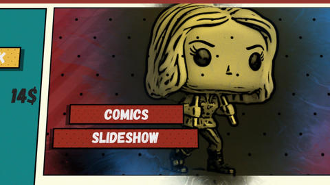 Comics Slideshow After Effects Template