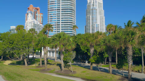 Miami Beach in Florida with luxury apartments Live Action
