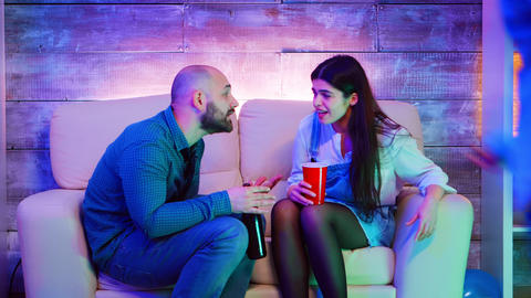 Best friends having a conflict at a college party Live Action
