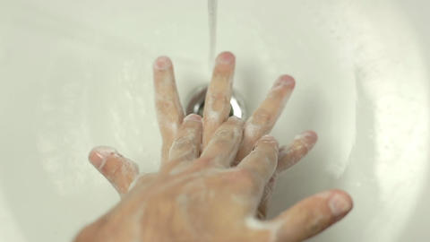 Washing Hands - Man