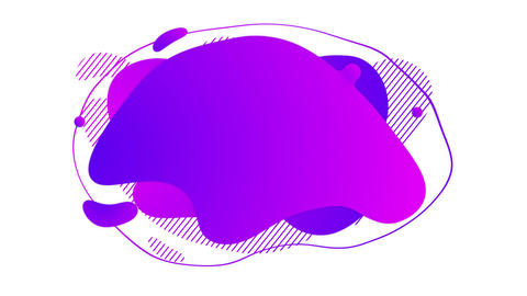 Liquid abstract background banner on alpha channel GIF