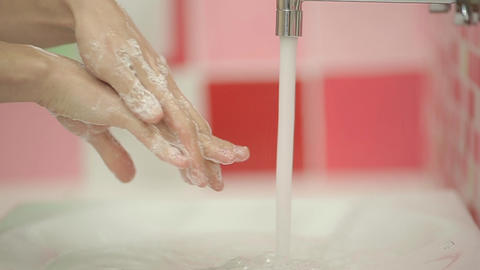 Washing Hands - Woman