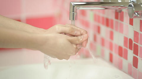 Washing Hands - Woman 1