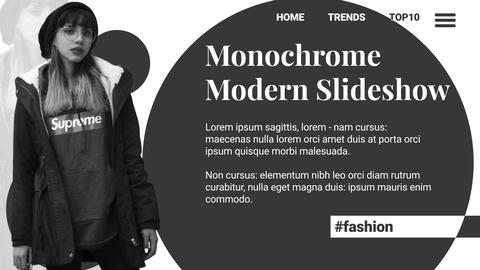 Monochrome Modern Slideshow After Effects Template