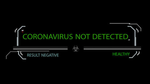 Animation of Negative scan for coronavirus COVID-19 in 4K GIF