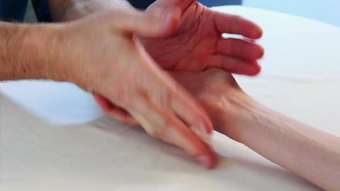 Hand massage Footage