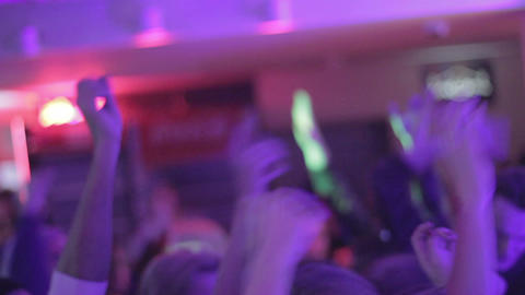 Young people partying on the dance floor, enjoying nightlife Footage