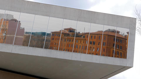 Reflection. National Museum of the XXI century (MAXXI). Rome, Italy Footage