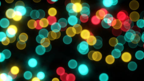 Moving bokeh light sparkles seamless loop Animation
