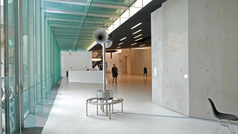 Hall National Museum of the XXI century (MAXXI). Rome, Italy Footage