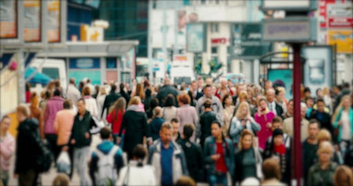 1080p Crowd of People / Commuters Walking / Busy Street Footage