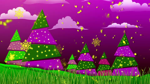Retro Christmas 3 Loopable Background Animation