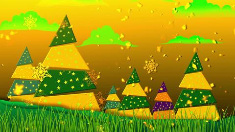 Retro Christmas 5 Loopable Background Animation