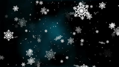 Snow and Snowflakes 6 Loopable Background Animation