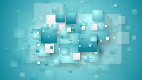Abstract blue tech geometric squares video animation Animation