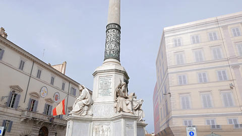 Column of the Immaculate Conception. Rome. Italy Footage