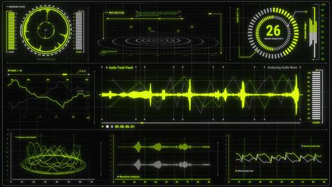 Voice Recording & Audio Analysis HUD Interface Element Animation