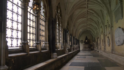 Inner corridors of Westminster Abbey, London, UA Live Action
