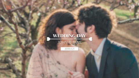 Wedding Title After Effectsテンプレート