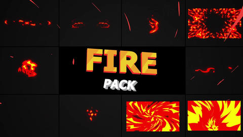 Dynamic Fire Elements Motion Graphics Template