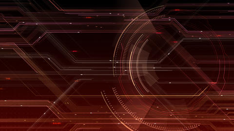 AI digital data network computer technology 3D illustration background 5 26 red CG動画
