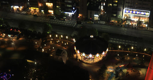 A cityscape from falling elevator at the urban city in Tokyo wide shot high Live Action