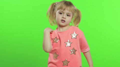 Positive girl in pink blouse dancing. Happy four years…, Live Action
