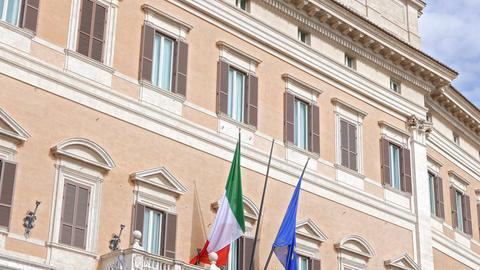 Palazzo Montecitorio. Rome, Italy Footage