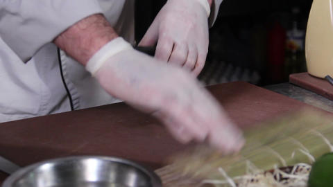 Process of making Japanese sushi rolls with cucumber and caviar Footage