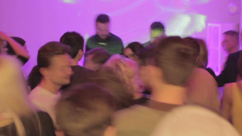 Drunk people dancing, alcohol abuse, party in the nightclub Live Action