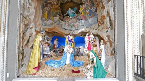 Scene in Santa Maria in Aracoeli. Rome, Italy Footage