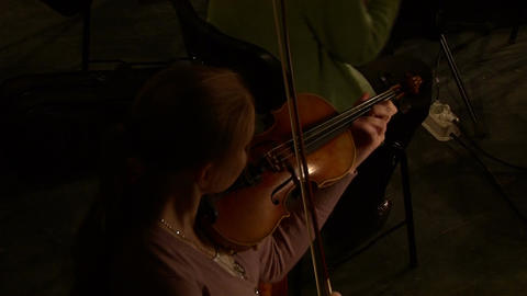 Violin before the concert Footage