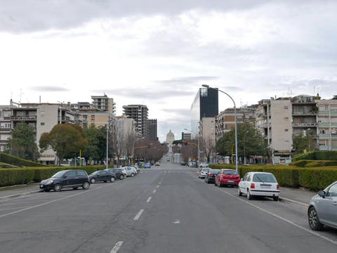 Viale Europa. EUR district. Rome, Italy Live Action