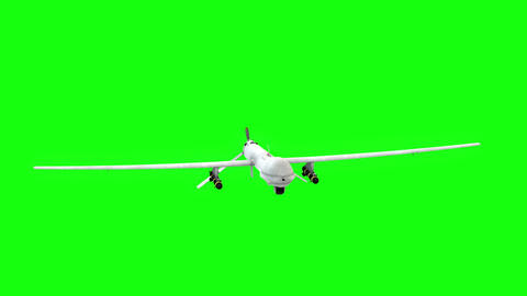 Military Drone With Missiles on a Green Screen Live Action