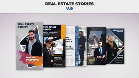 Real Estate Stories v 9 After Effectsテンプレート