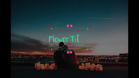 Flower Titles Apple Motion Template