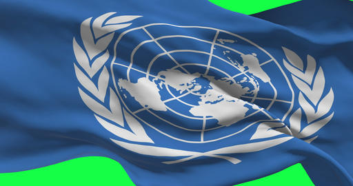 Un Flag On Green Screen Live Action