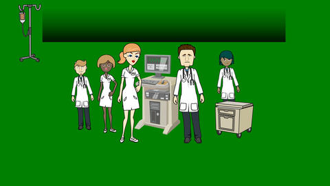 Doctors and Medical Staff on Green Screen w/ Title Gradient: Loop + Matte Animation