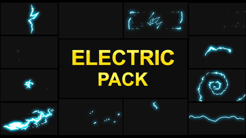 Electricity Elements Apple Motion Template