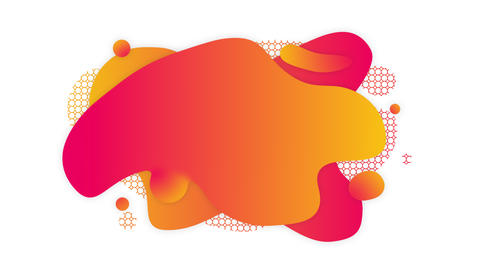 Liquid gradient isolated blotted background GIF
