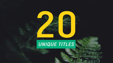 20 Minimal Titles Animation Plantilla de After Effects