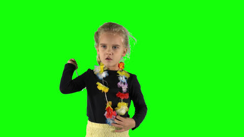 Blond hair girl counting with magic wand. Preschooler education games Live Action