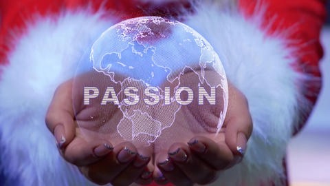 Hands holding planet with text Passion Live Action