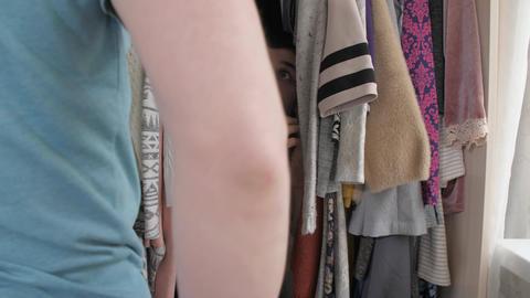 Husband find a man hiding inside wardrobe Live Action