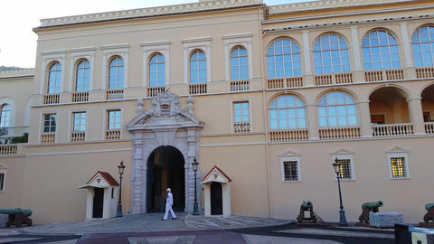 Panoramic View of the Prince's Palace of Monaco Footage