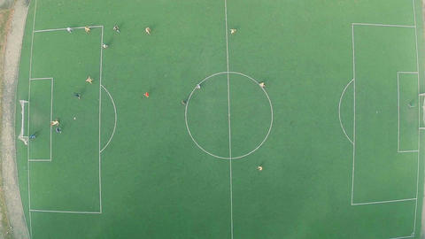 Team playing professional soccer (football) on pitch, training Footage