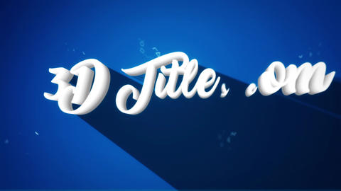 3D Titles After Effects Template